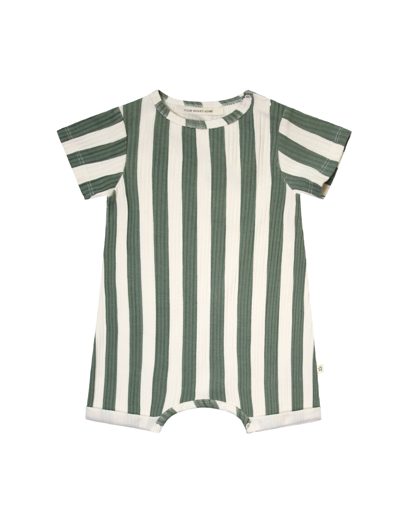Your Wishes Your Wishes Bold Stripes Onesie Old Green
