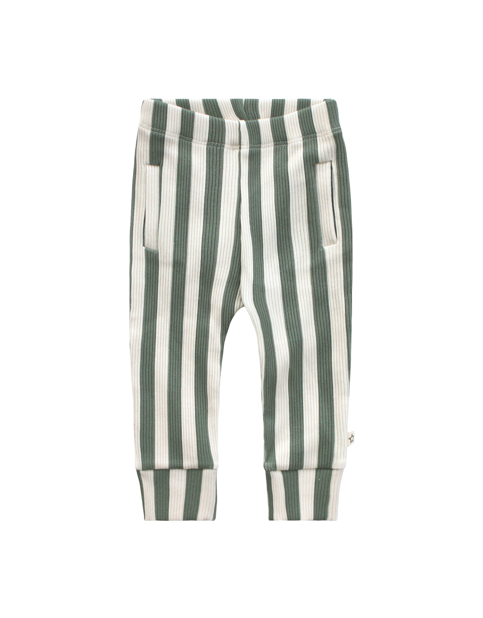 Your Wishes Your Wishes Bold Stripes Fitted Pants Old Green