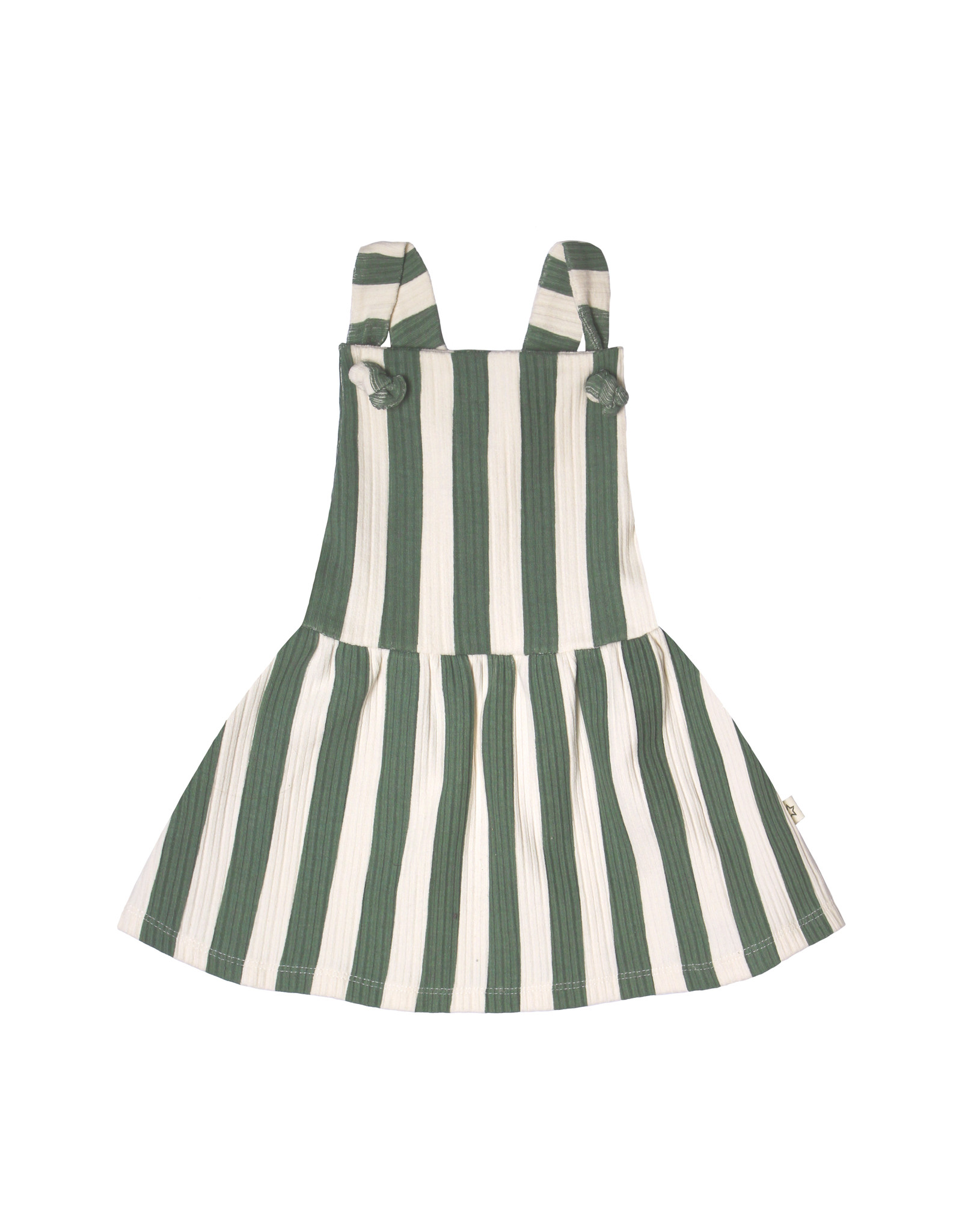Your Wishes Your Wishes Bold Stripes Dress Old Green