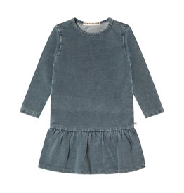 Your Wishes Your Wishes Knitted Denim LS Shift Dress