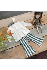 Your Wishes Your Wishes Bold Stripes Flared Legging Green
