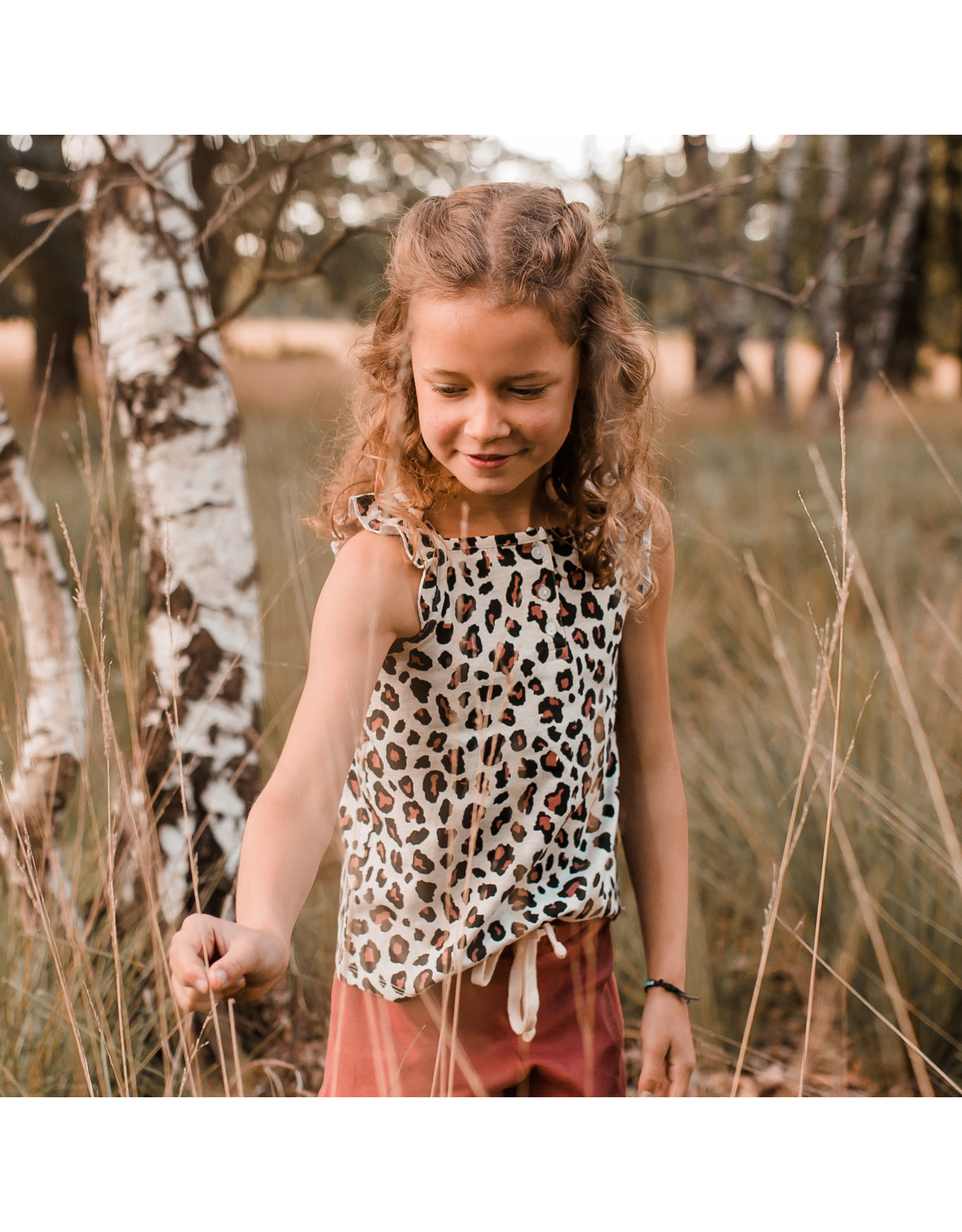 Your Wishes Your Wishes Leopard Ruffle Singlet