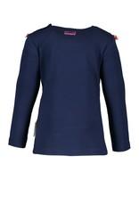 B.Nosy B.Nosy Baby Girls longsleeve Shirt with ruffle Space Blue