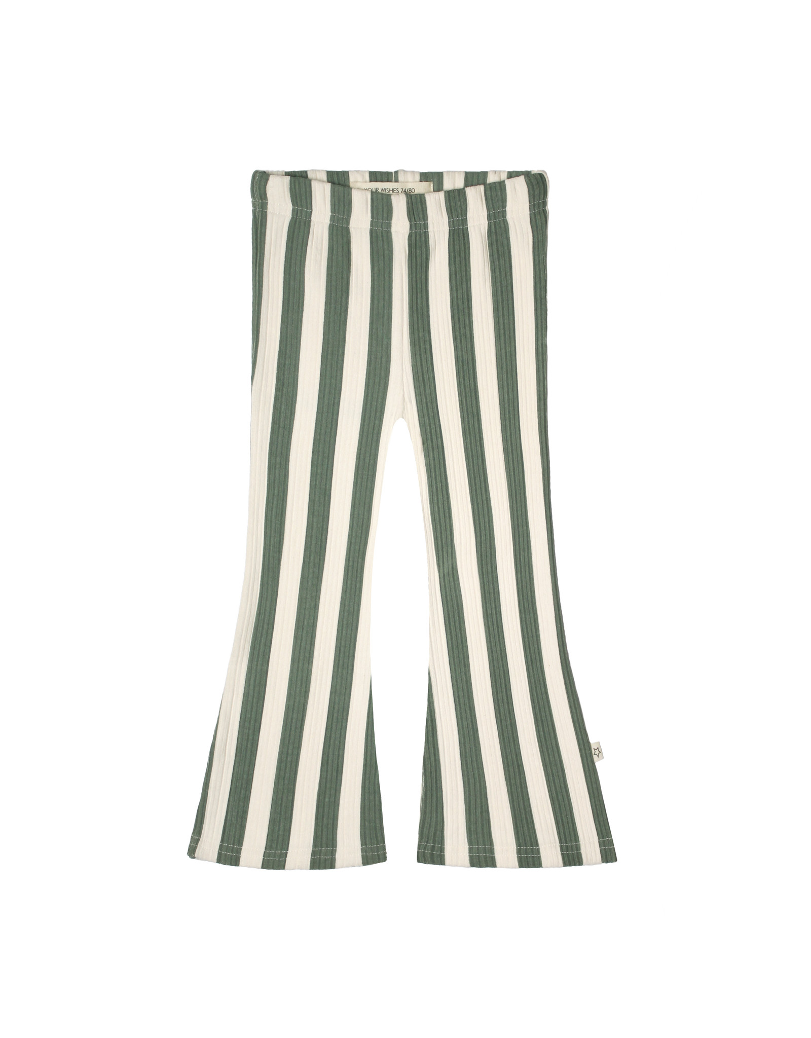 Your Wishes Your Wishes Bold Stripes Flared Legging Old Green