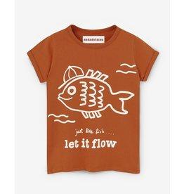 Nadadelazos Nadadelazos T-shirt Let It Flow Lava Red