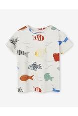 Nadadelazos Nadadelazos T-shirt Fishes In The River Beige
