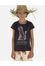 Nadadelazos Nadadelazos T-shirt Magic Leopard Washed Black