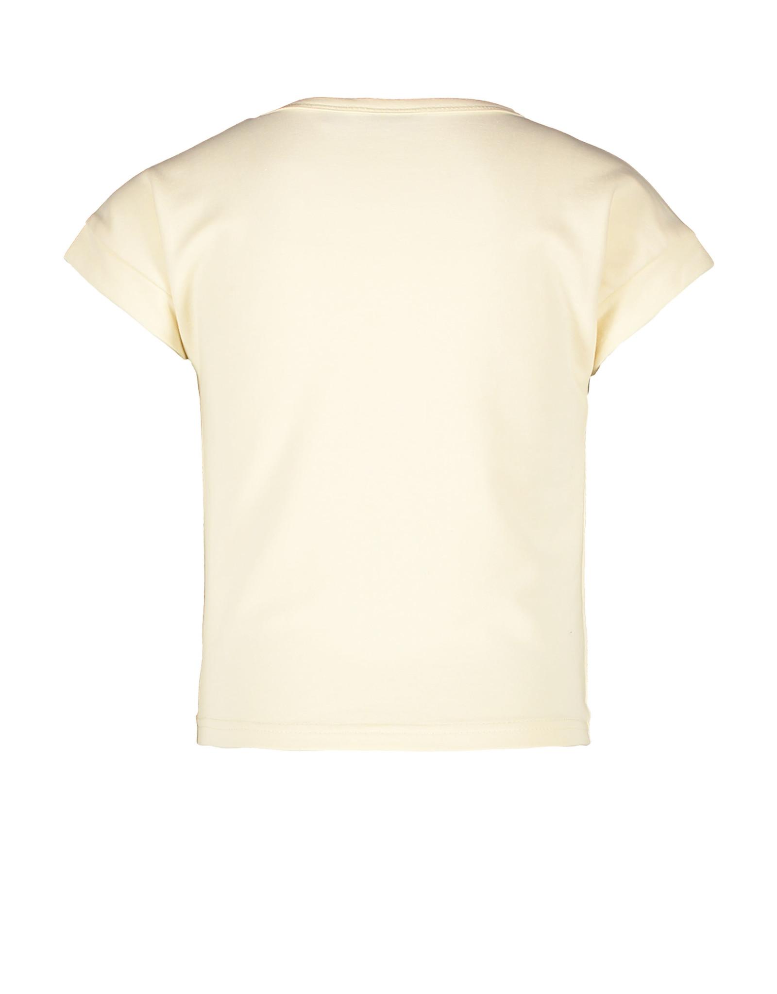 Like Flo Like Flo Girls Sweat Knotted T-shirt Cream