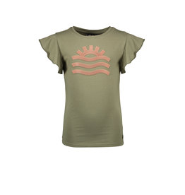 Like Flo Like Flo Girls Jersey Tee Ruffle Army
