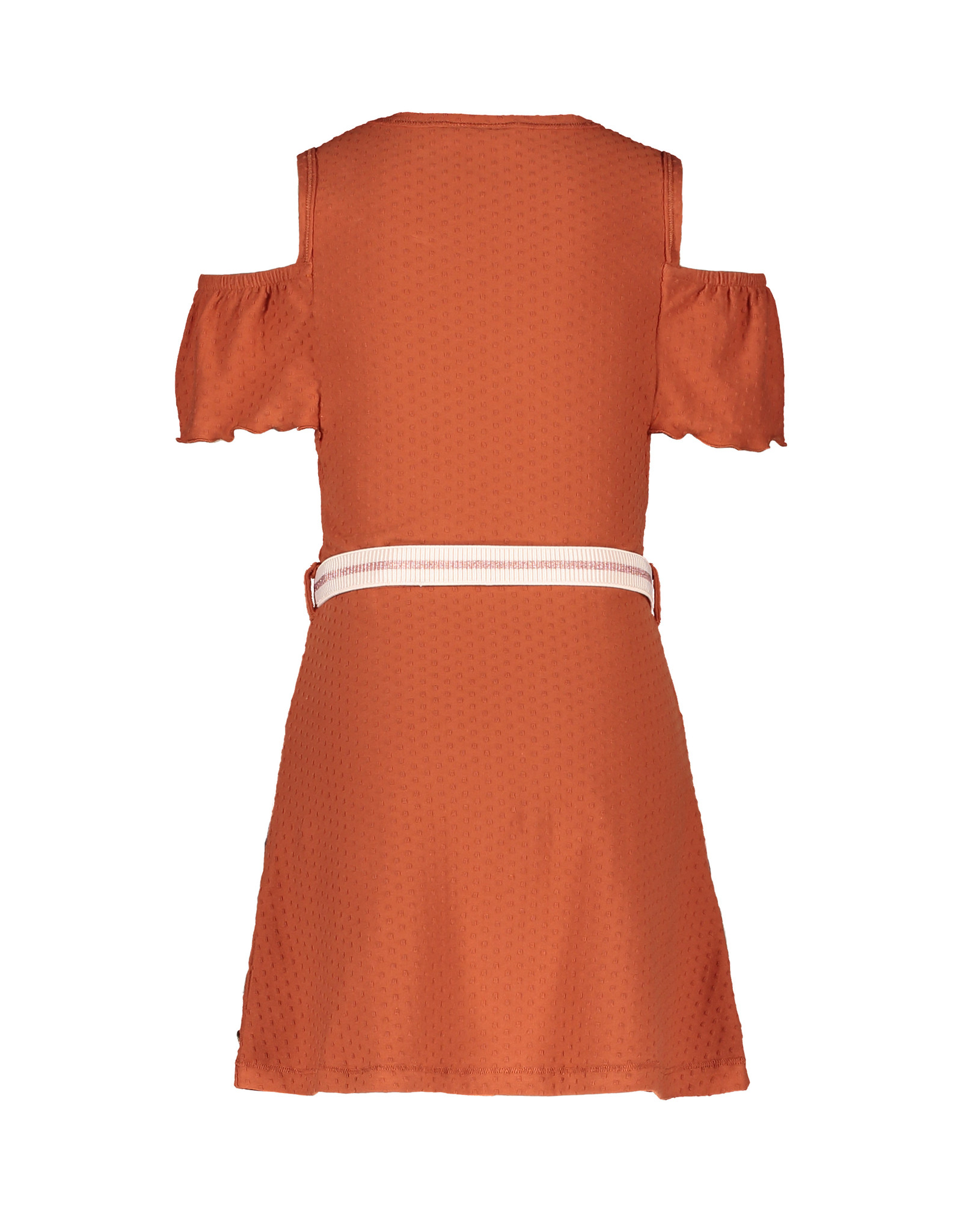 Like Flo Like Flo Girls Fancy Jersey Open Shoulder Dress Cognac