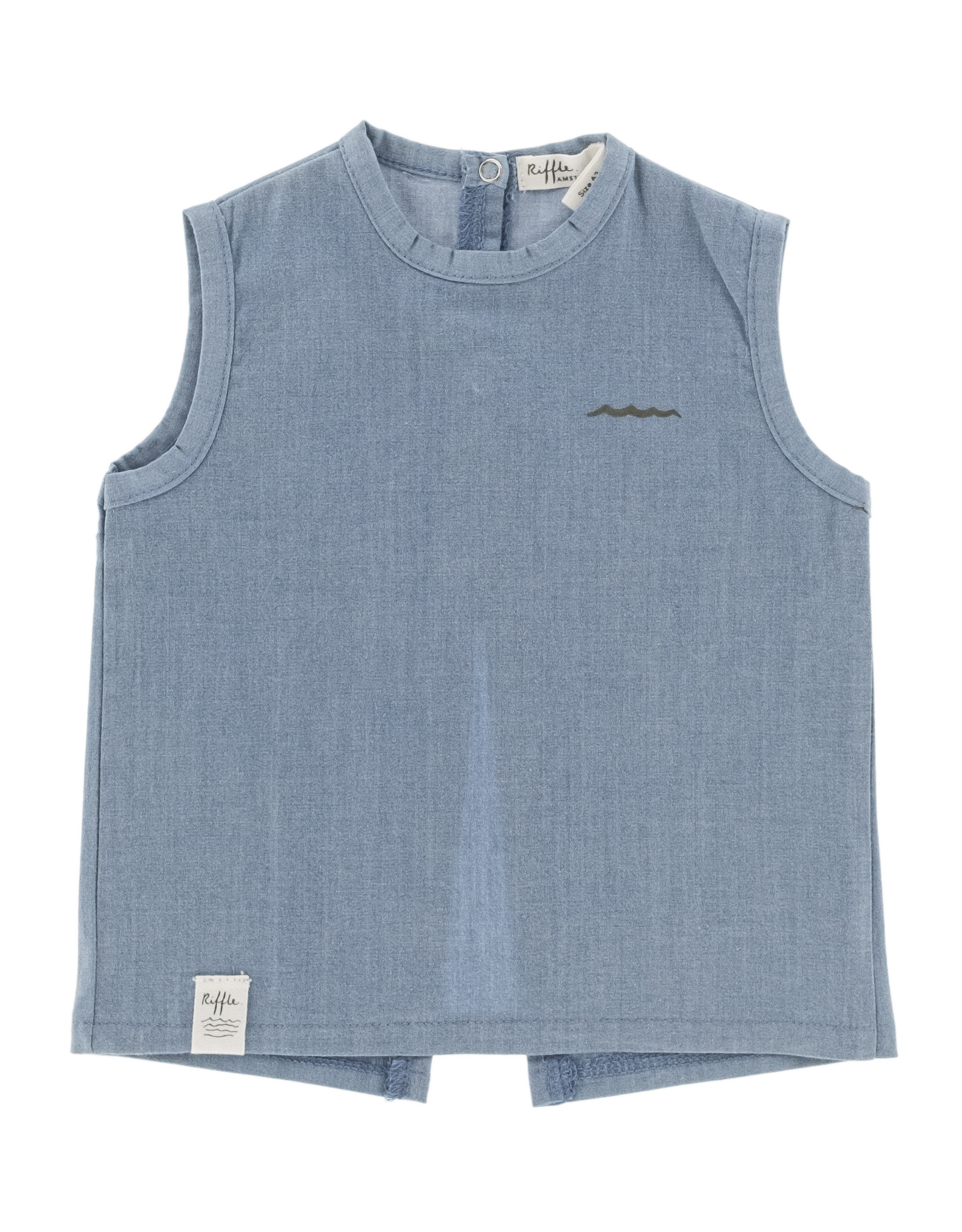 Riffle Amsterdam Riffle T-shirt short sleeve Denim