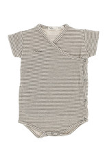 Riffle Amsterdam Riffle Amsterdam Romper short sleeve Grey/Green Stripe