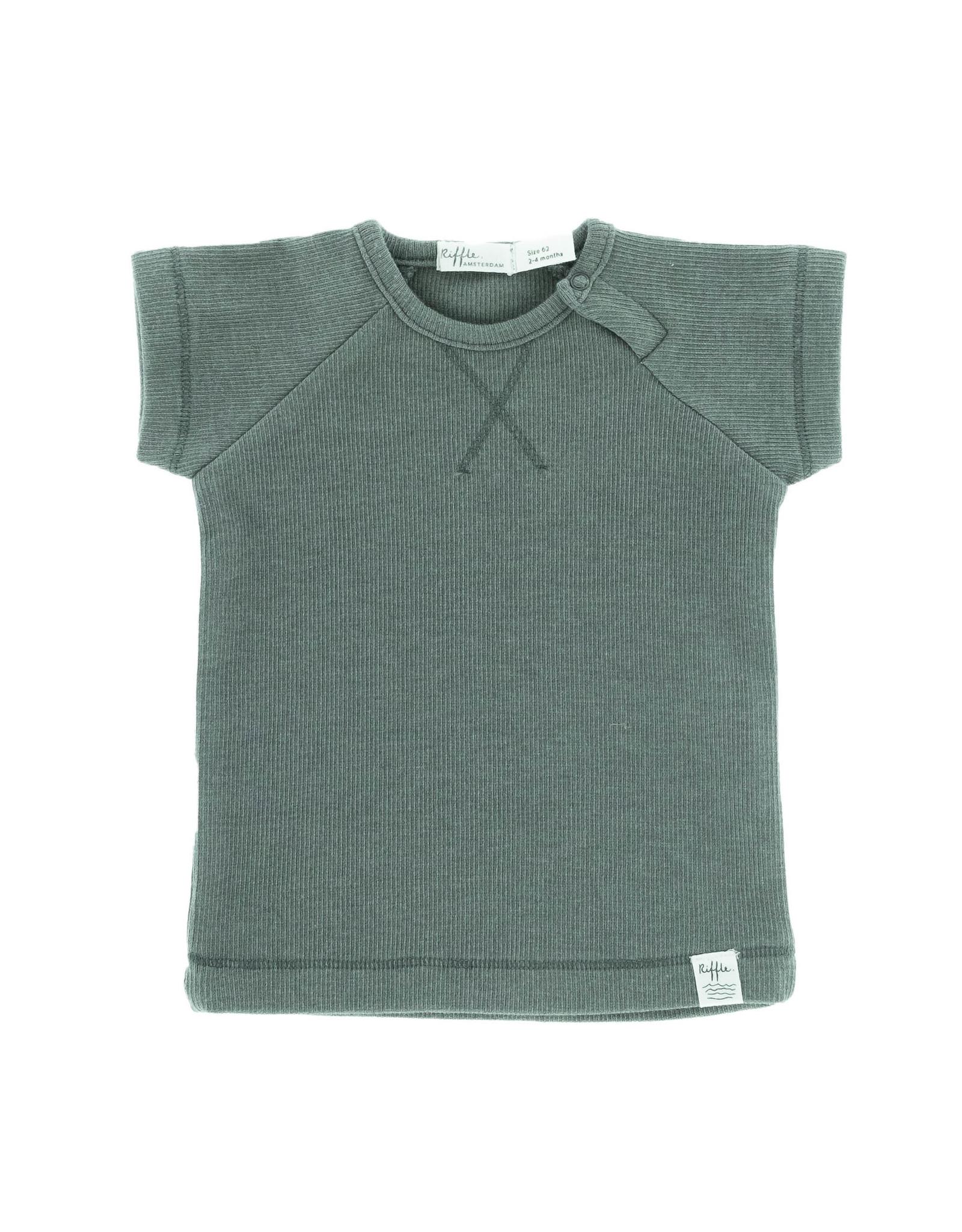 Riffle Amsterdam Riffle Amsterdam T-shirt short sleeve Grey