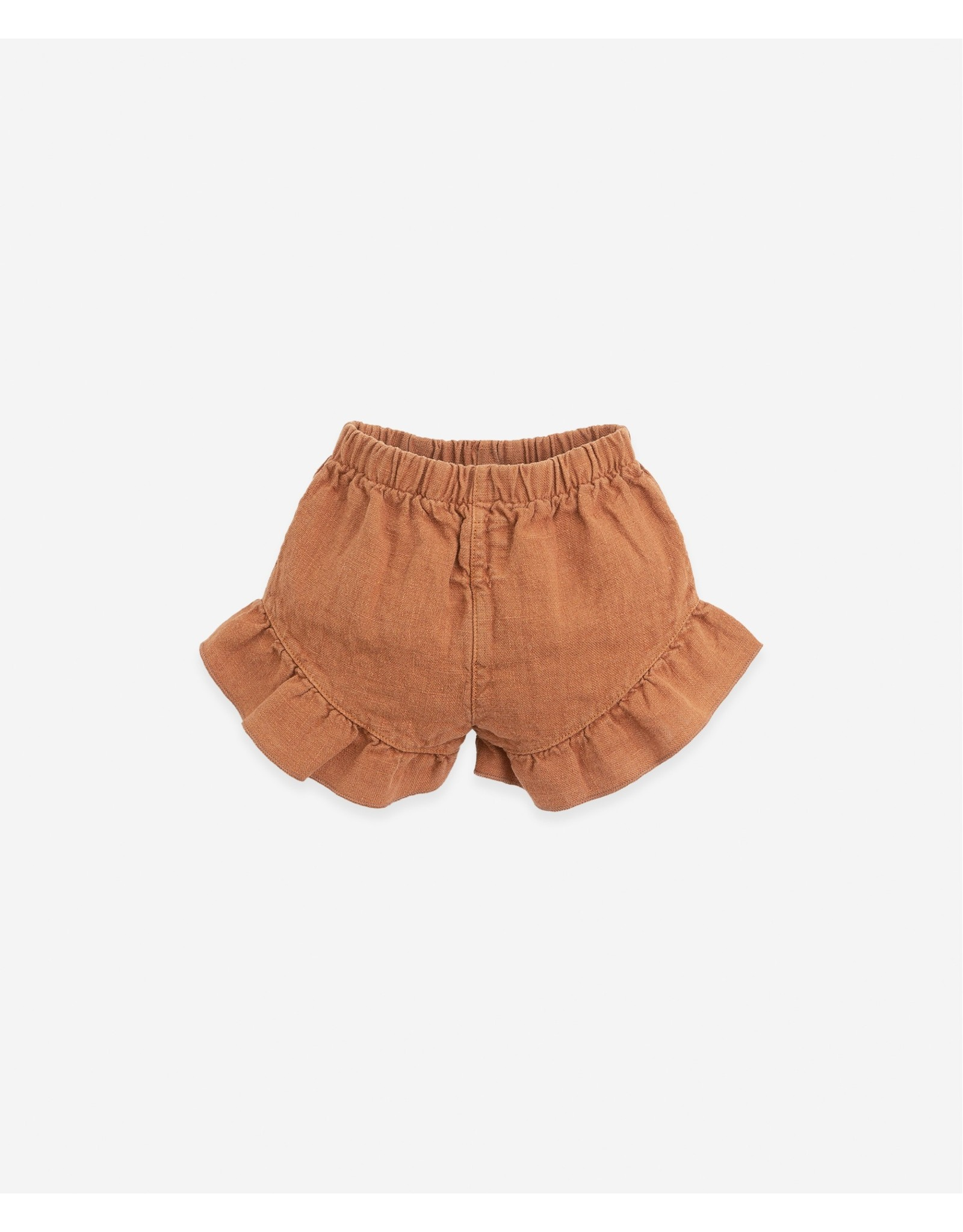 Play Up Play Up Linen shorts with a frill Botany Raquel