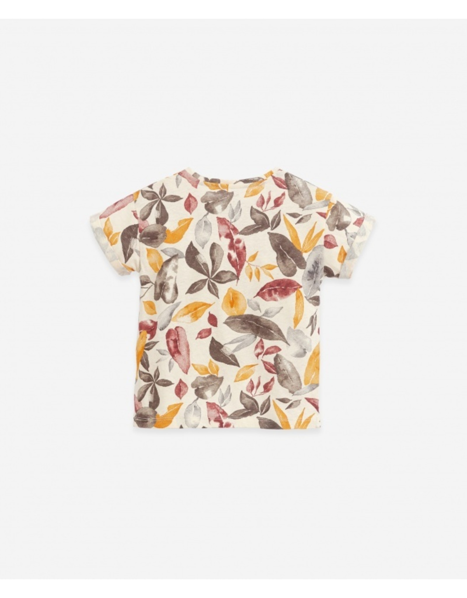 Play Up Play Up T-shirt in organic cotton and linen Botany Dandelion