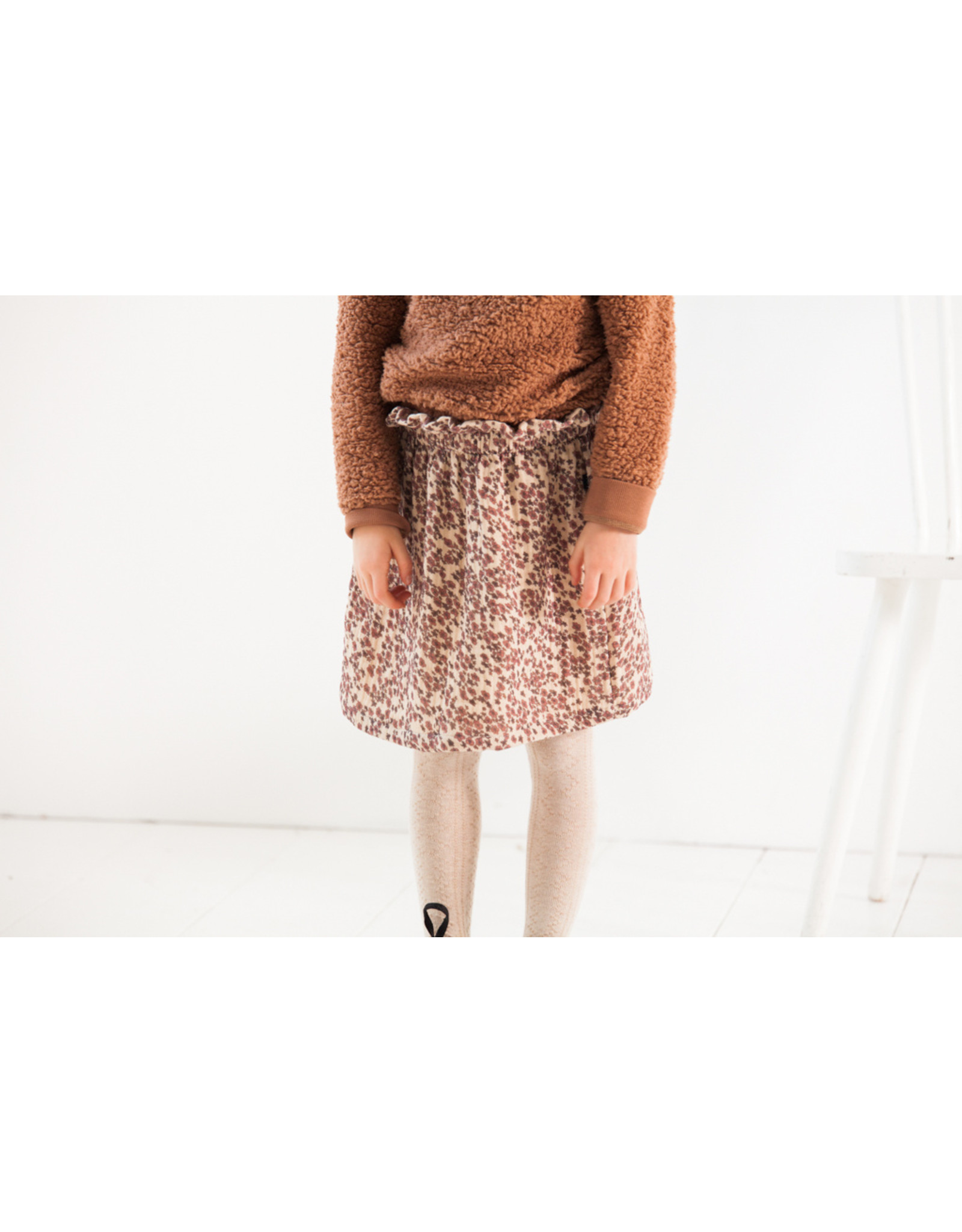 House of Jamie HOJ Summer Paperbag Skirt Rose Dawn Blossom
