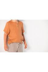 House of Jamie HOJ Henley Shirt Burnt Ginger