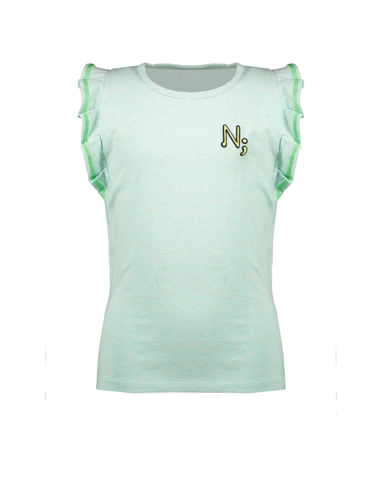 NONO NoNo Kumi Fancy Pleated Sleevees T-shirt Mint