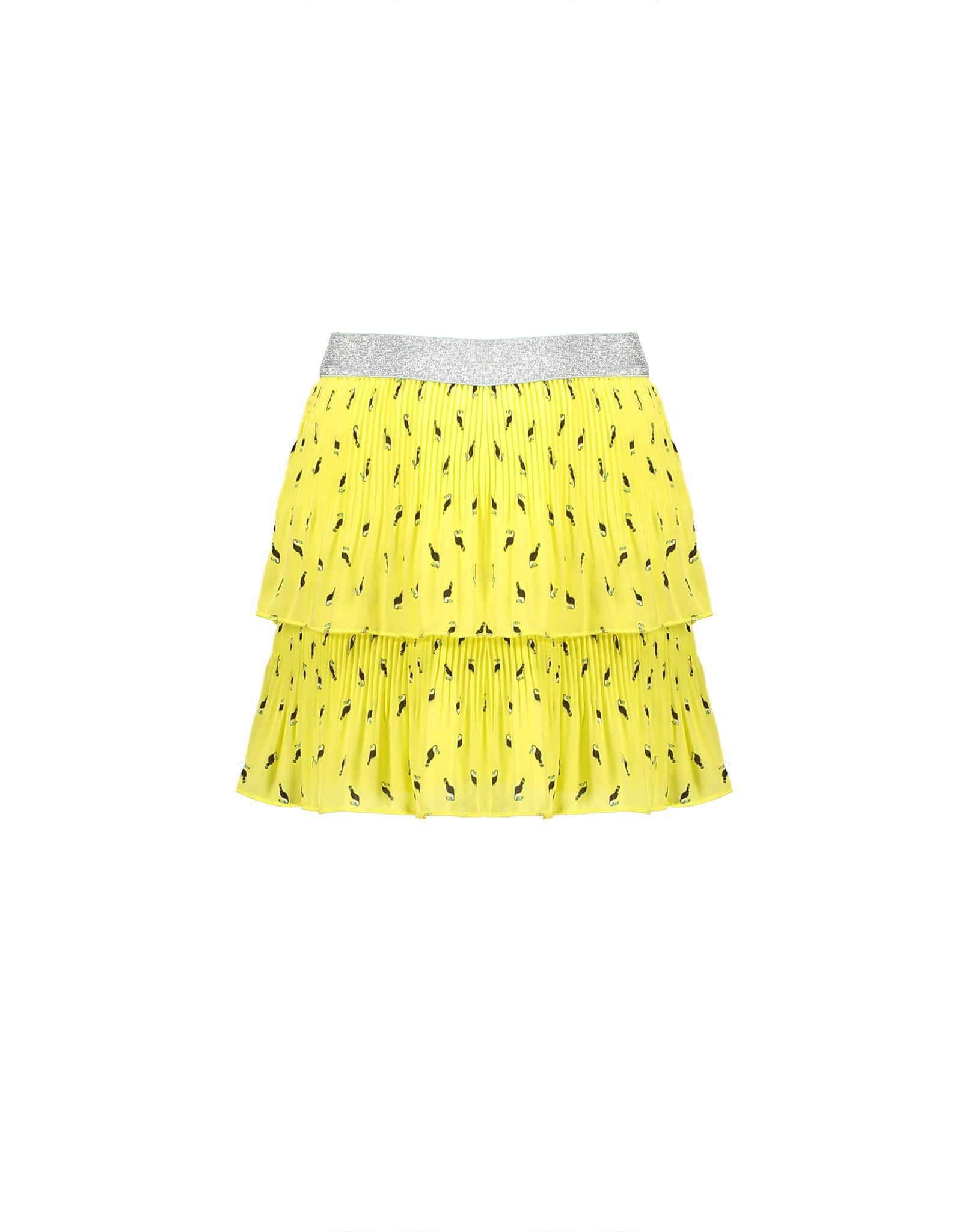 NONO NoNo Nikki Layered Plisse Skirt In Toucan Lime Light