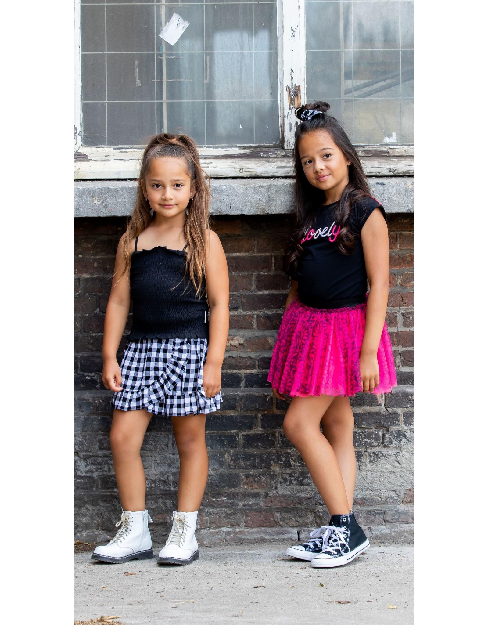 B.Nosy B.Nosy Girls Smocked Top Black
