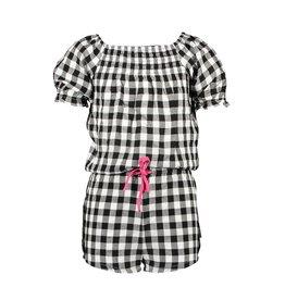 B.Nosy B.Nosy Girls Check Short Jumpsuit Sunny Black /White