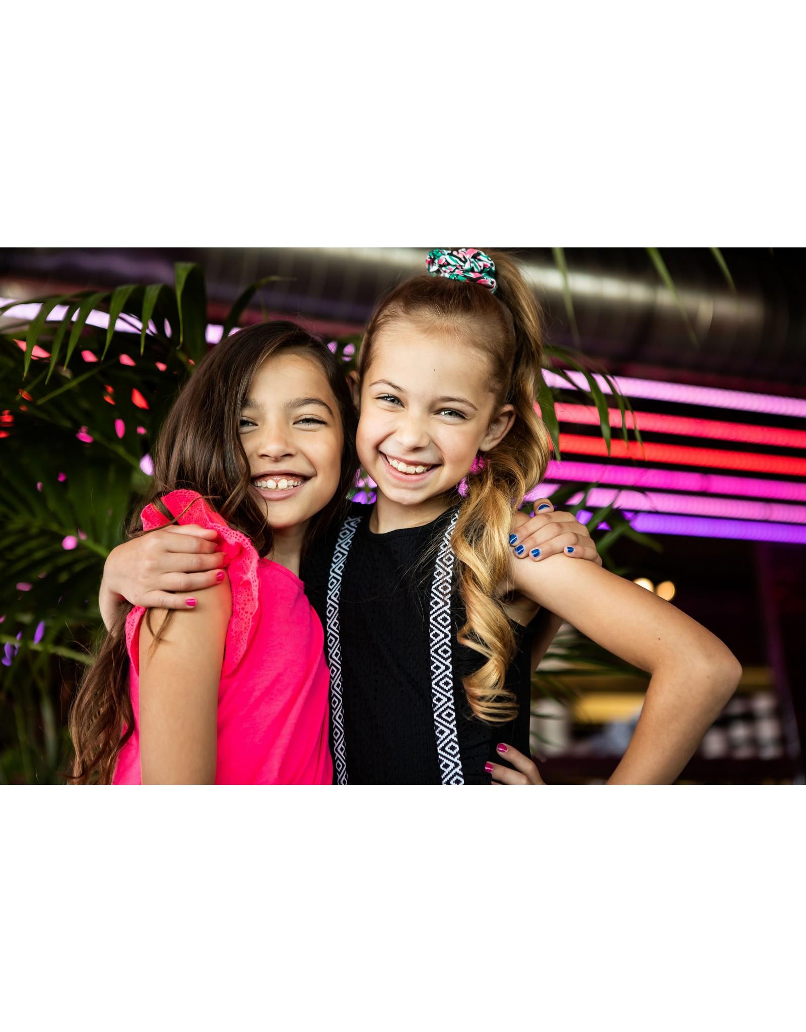 B.Nosy B.Nosy Girls Dress With Lace Ruffle Black