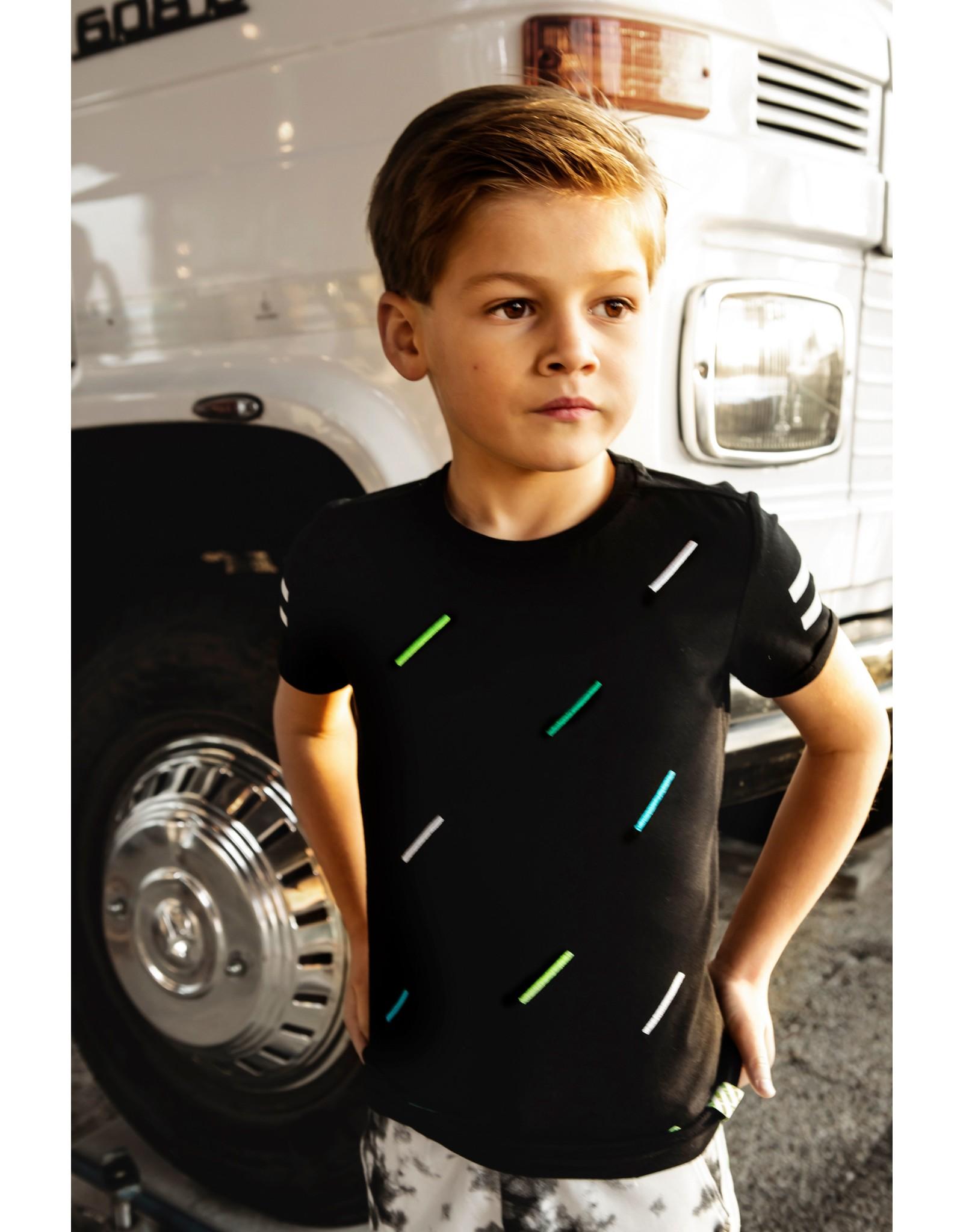 B.Nosy B.Nosy Boys With Multicolor stripe Black