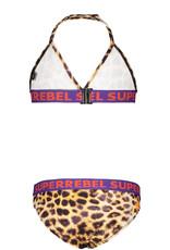 Super Rebel SuperRebel Triangle Bikini Leopard