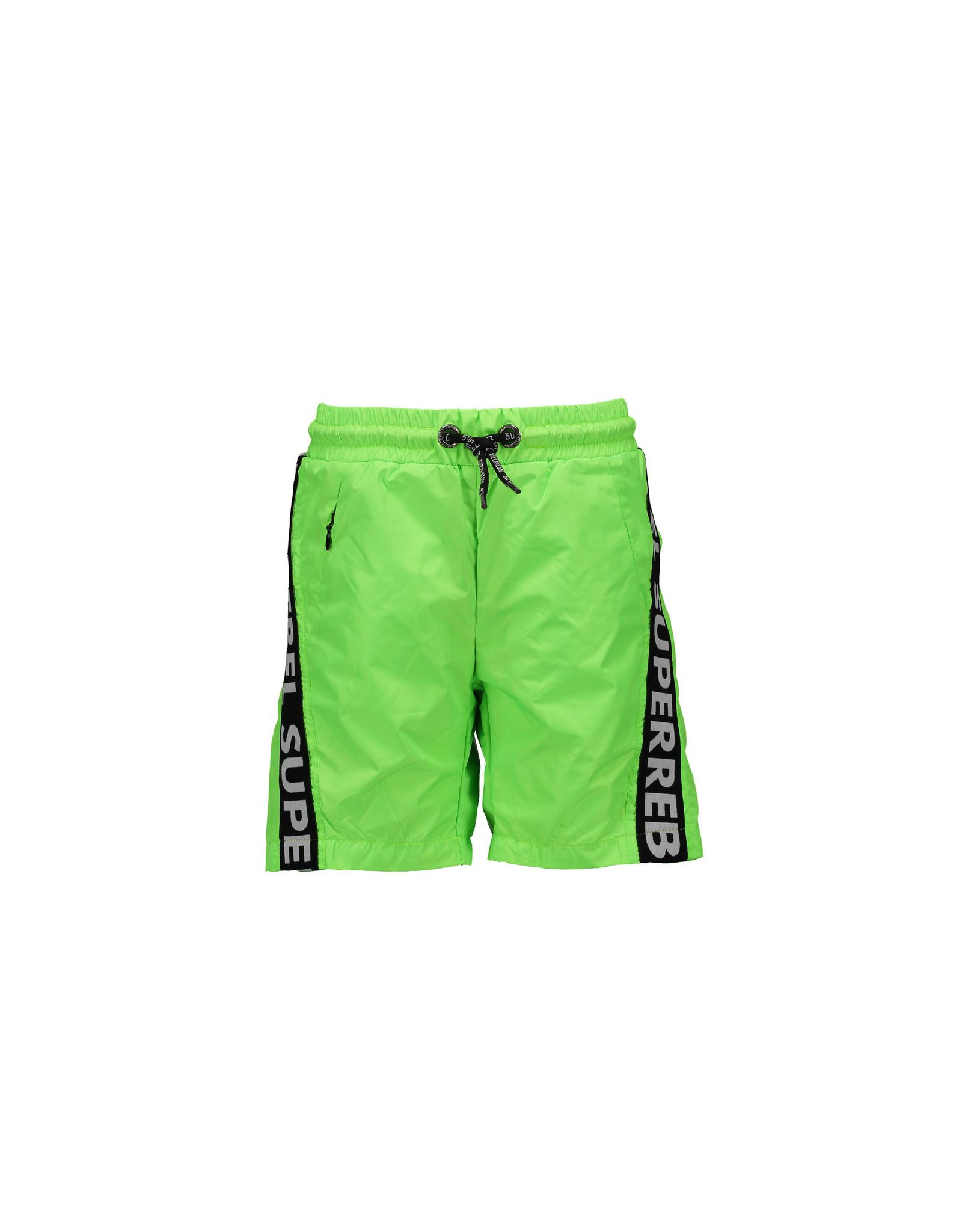 Super Rebel SuperRebel Swim Short Text Tape Gecko Green