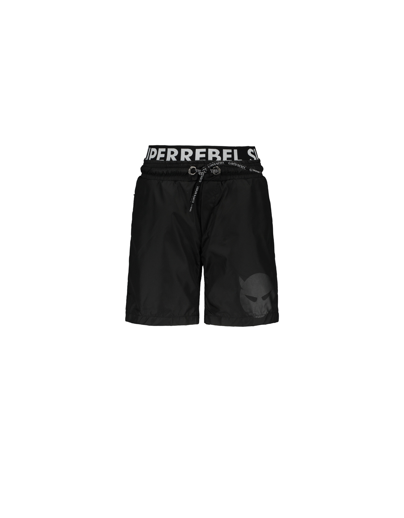Super Rebel SuperRebel Solid Swim Short With Double Waistband