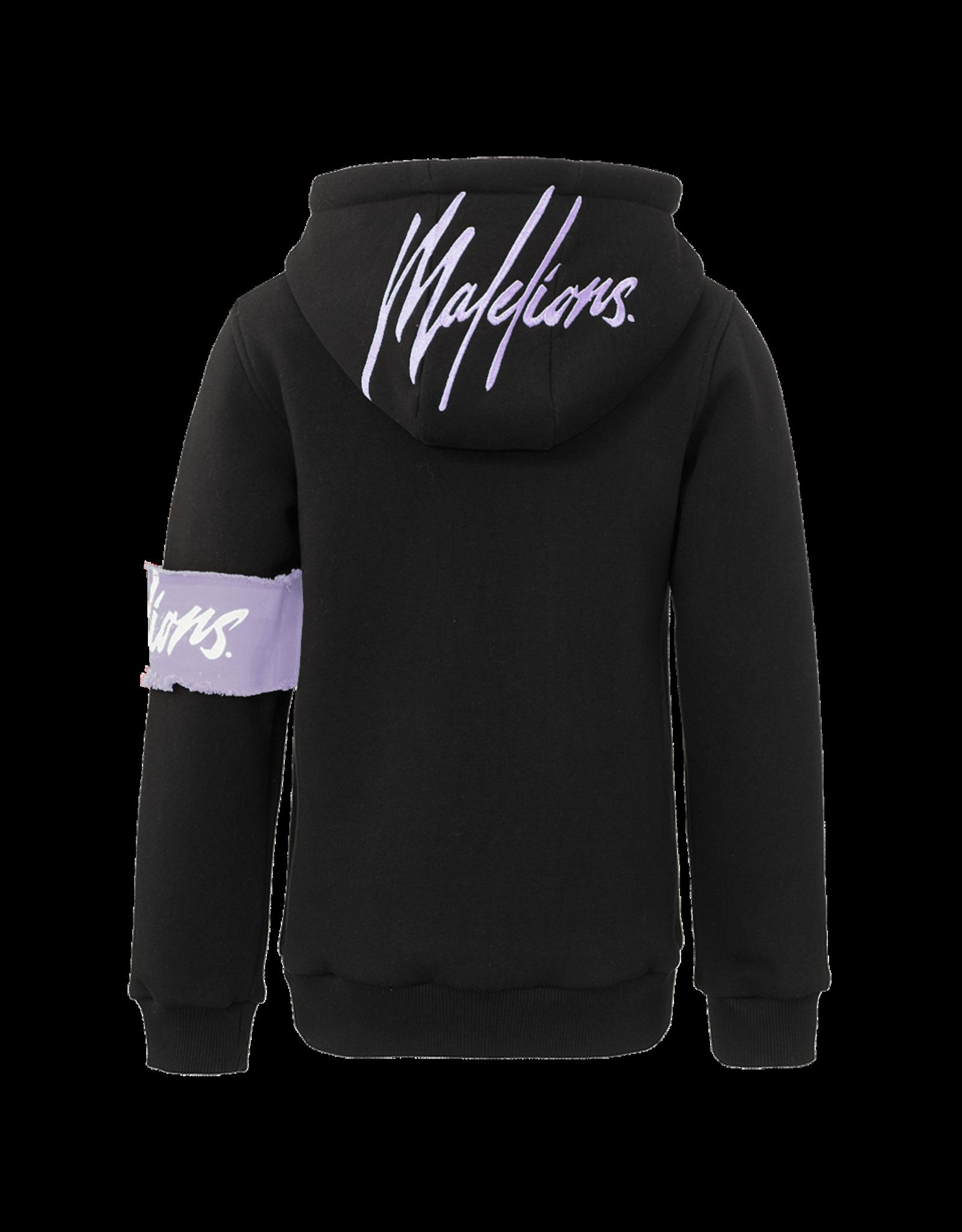 Malelions Malelions Junior Captain Hoodie Black/Purple