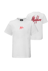Malelions Malelions T-shirt Junior Double Signature White/Red