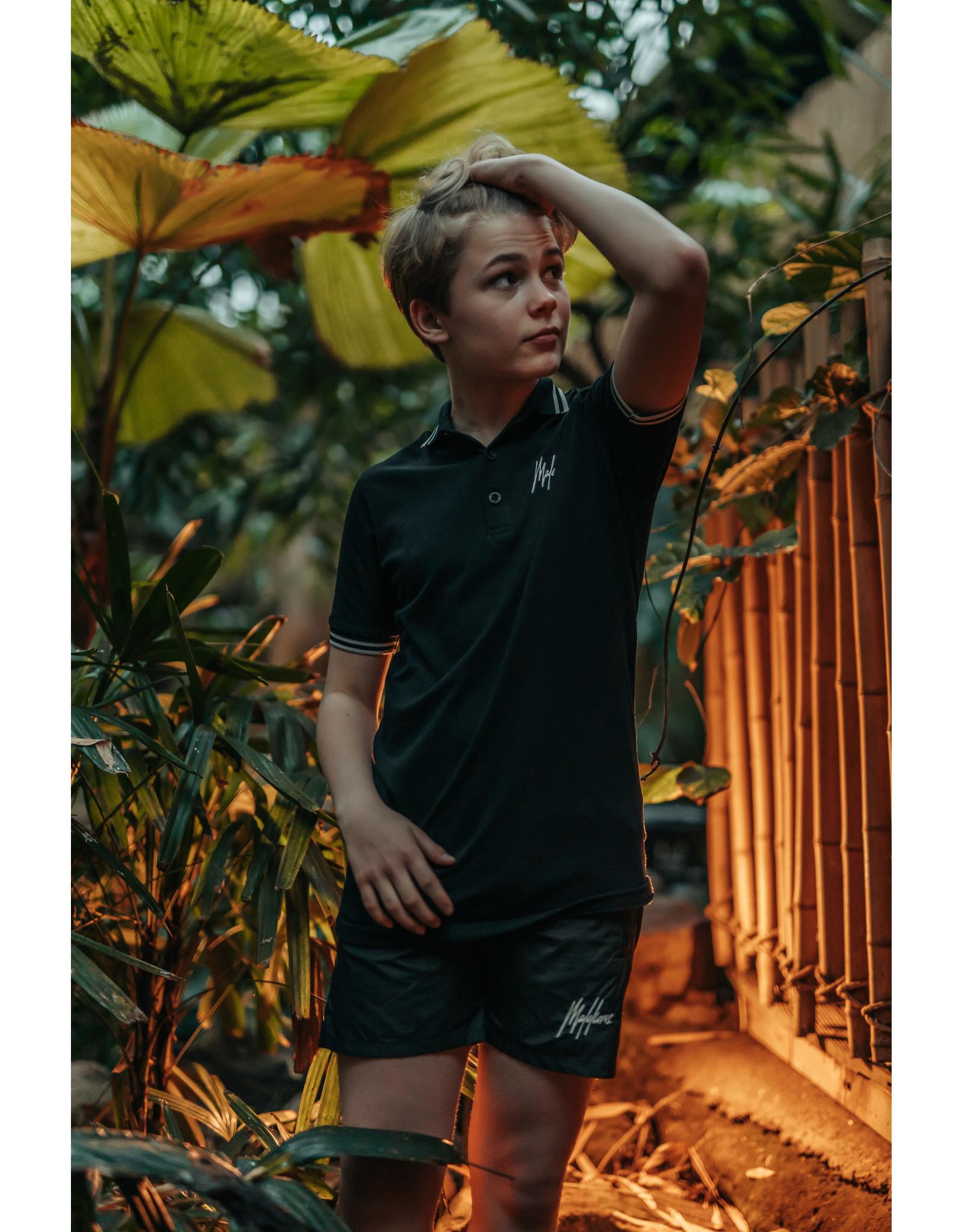 Malelions Malelions Junior Striped Polo Black/White