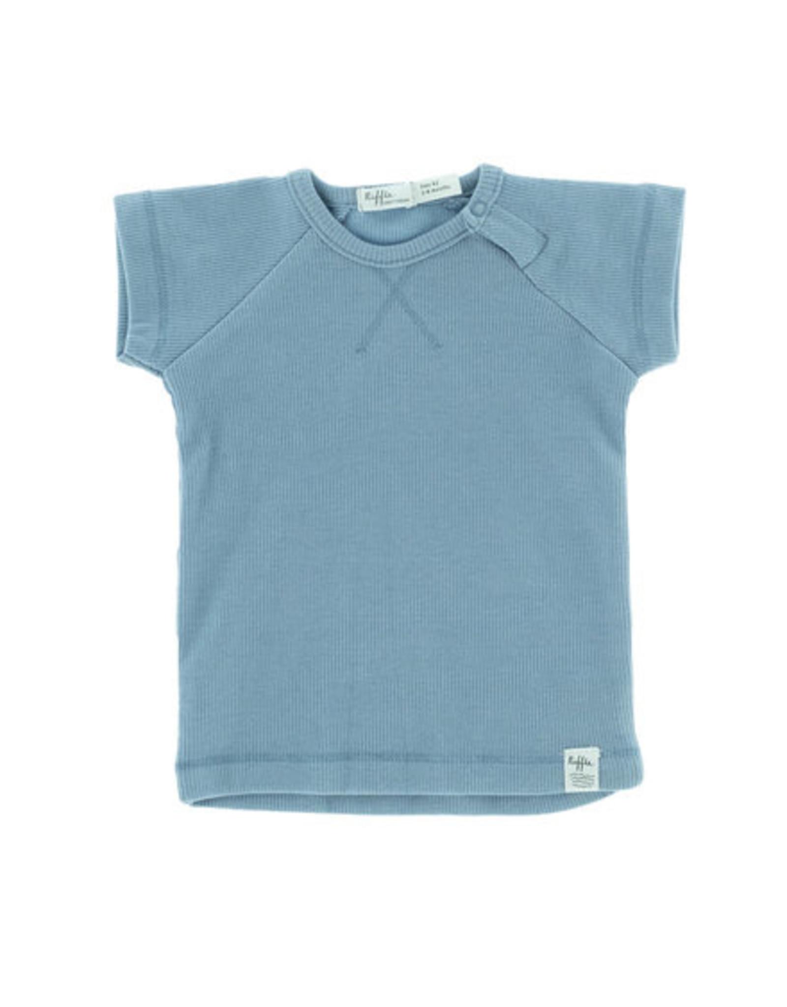 Riffle Amsterdam Riffle Amsterdam T-shirt short sleeve Rib Blue