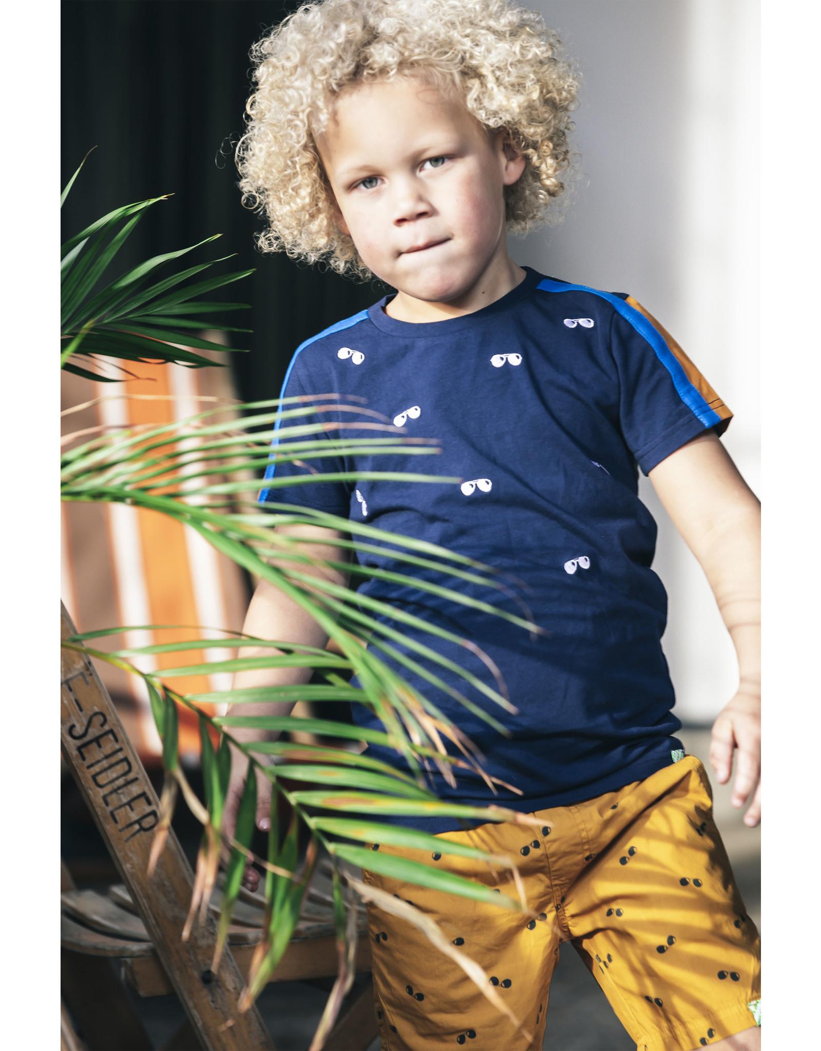 B.Nosy B.Nosy Boys Shirt With Sunglass Embro Space Blue