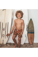 Your Wishes Your Wishes Palmtrees Swim Shorts Dark Rust - Kids