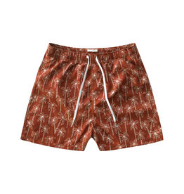Your Wishes Your Wishes Palmtrees Swim Shorts Dark Rust - Men