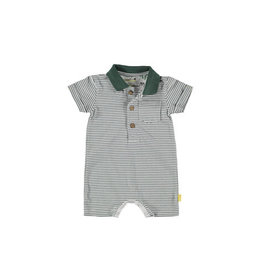 BESS Bess Playsuit Stripe Polo White