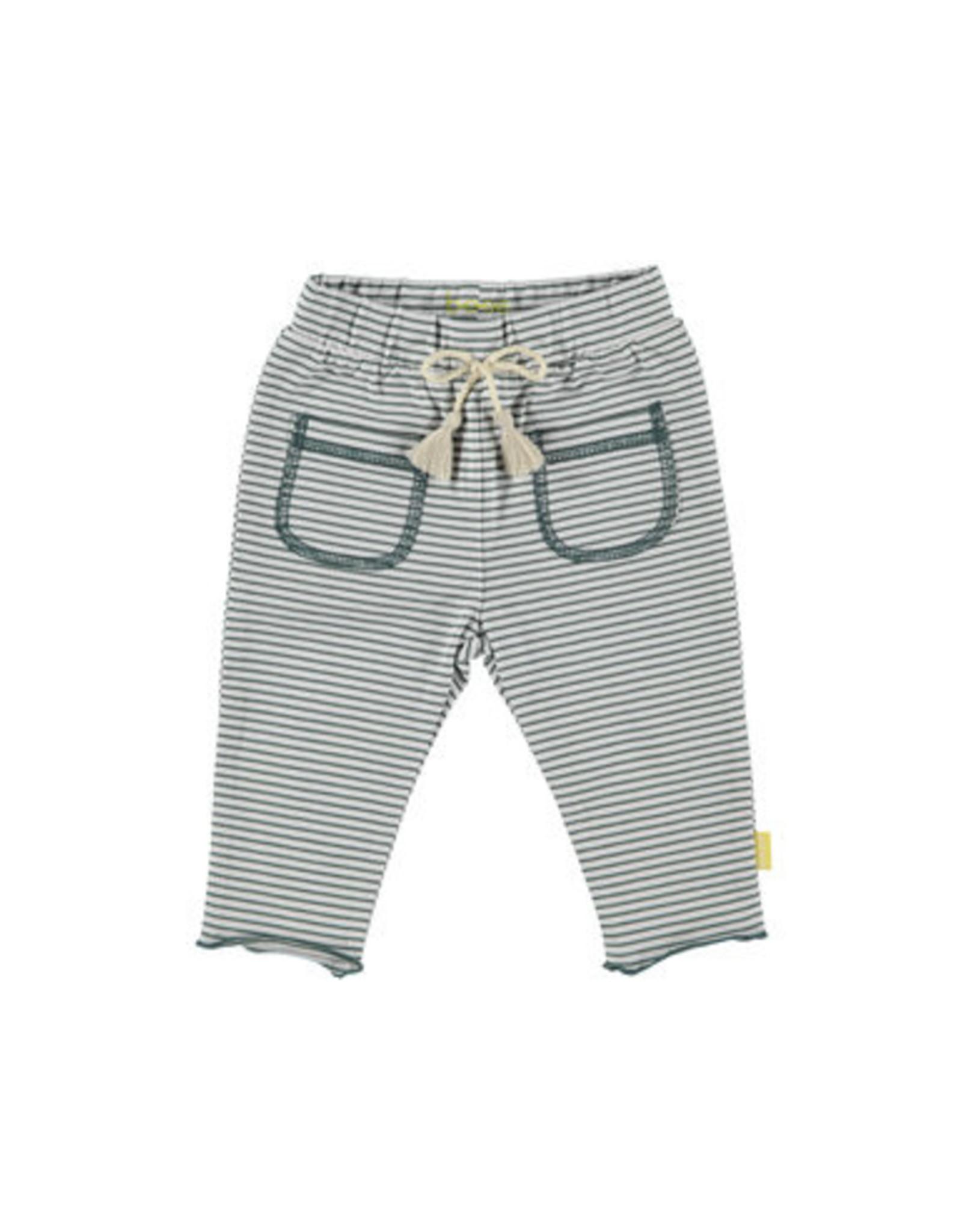 BESS Bess Pants Striped Pockets White