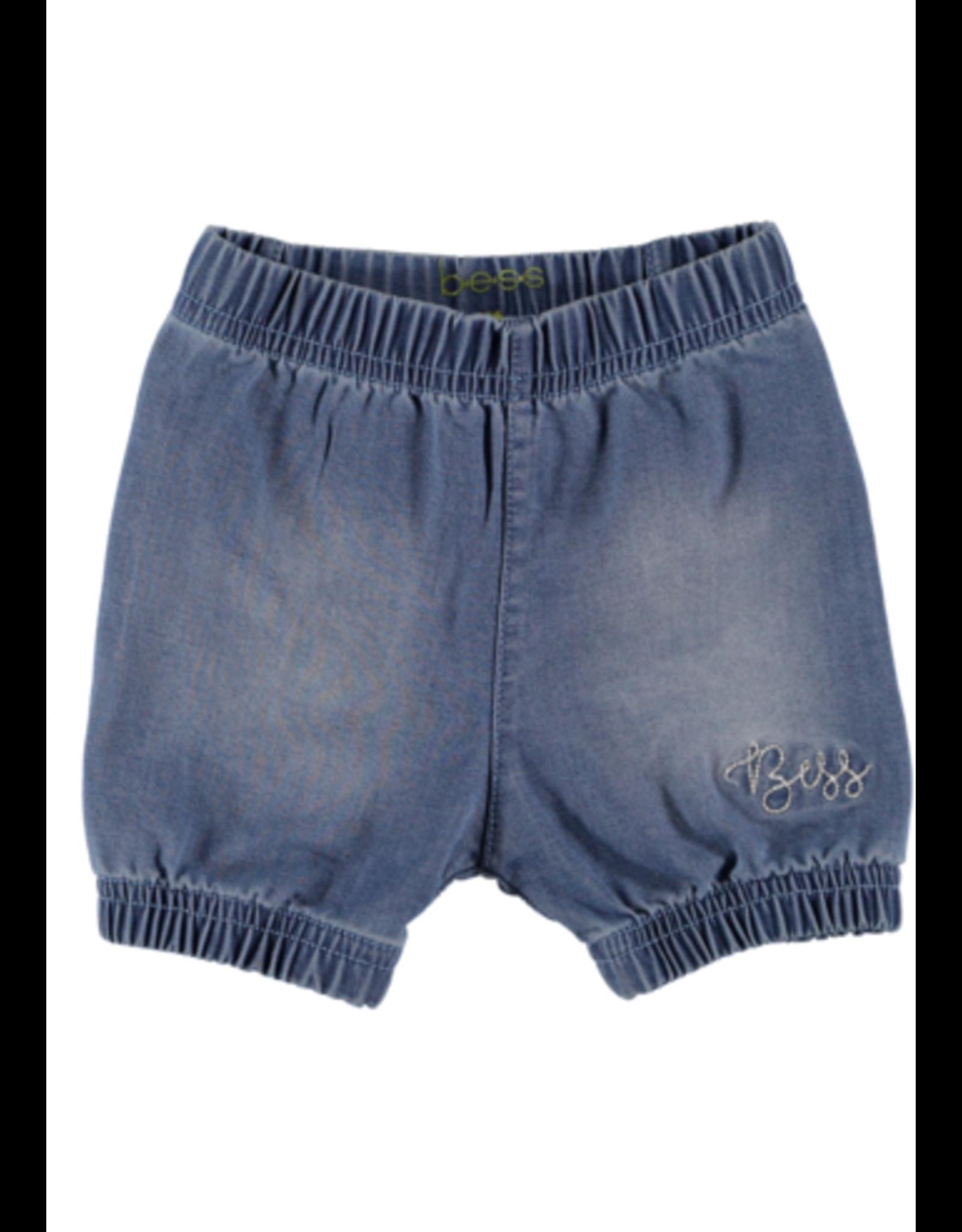 BESS Bess Shorts Denim Ruffles Light wash
