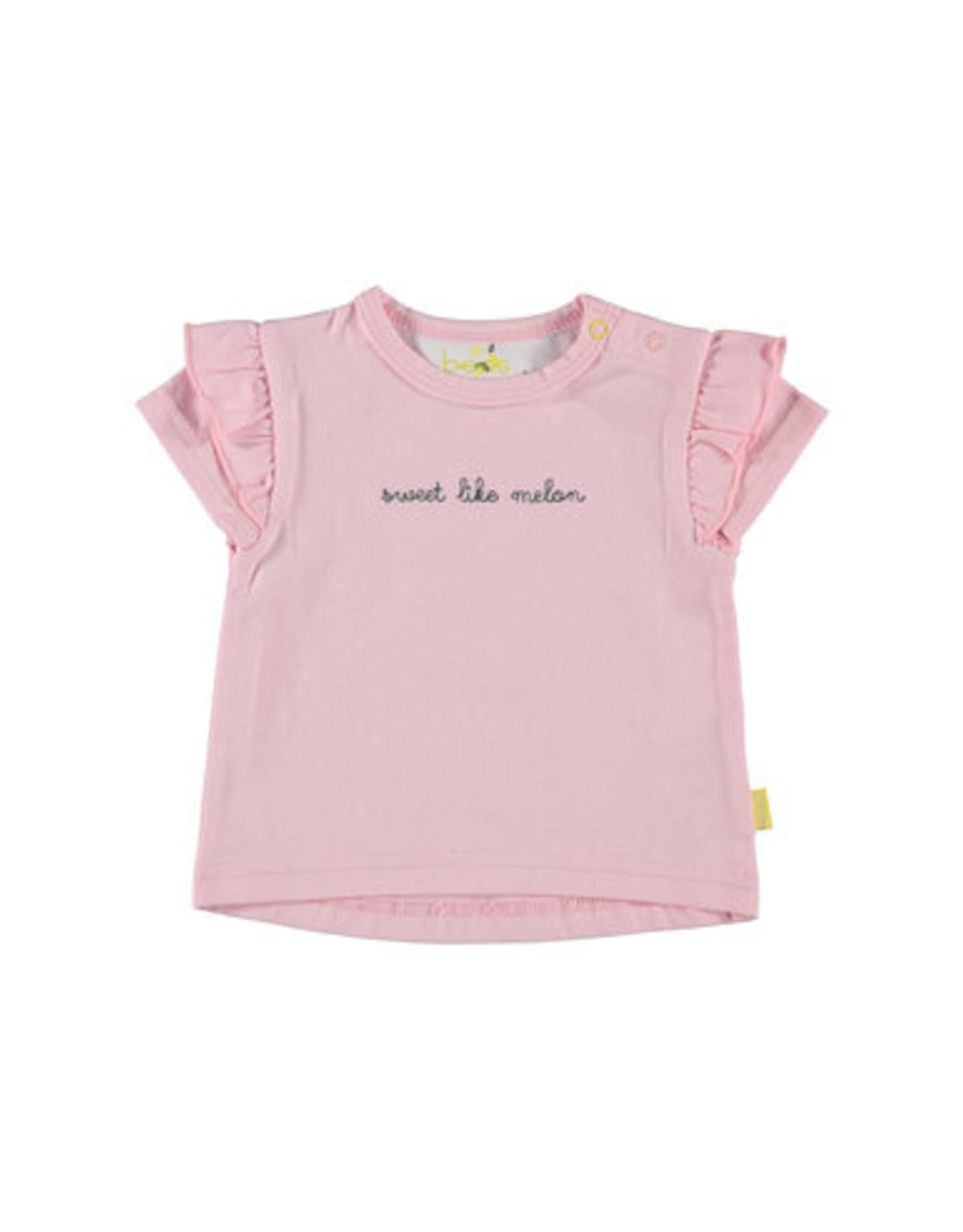 BESS Bess Shirt short sleeve Sweet Like Melon Pink