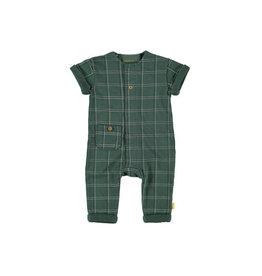 BESS Bess Green Suit Sh.Sl. Check
