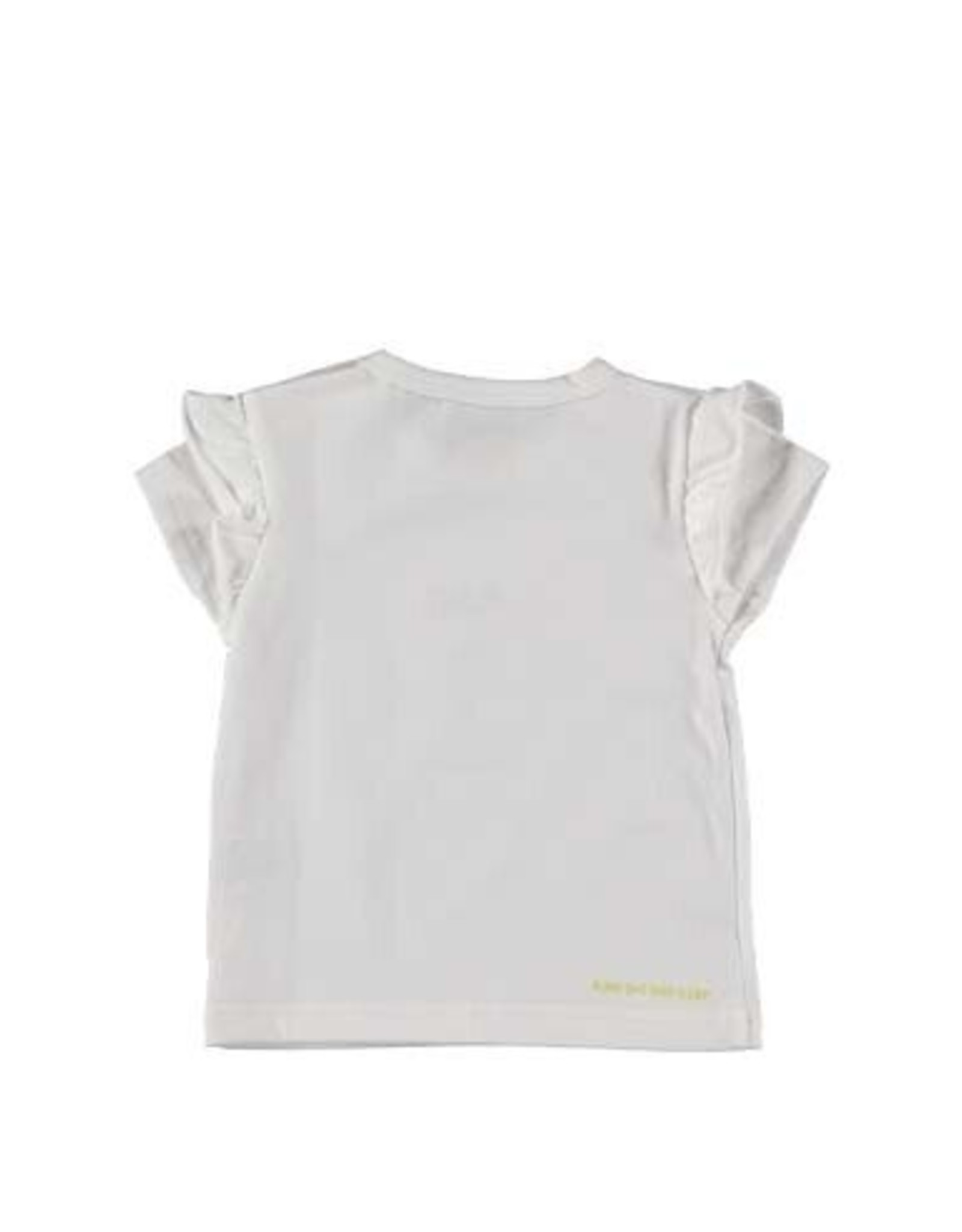 BESS Bess White Shirt Sh.sl. Love