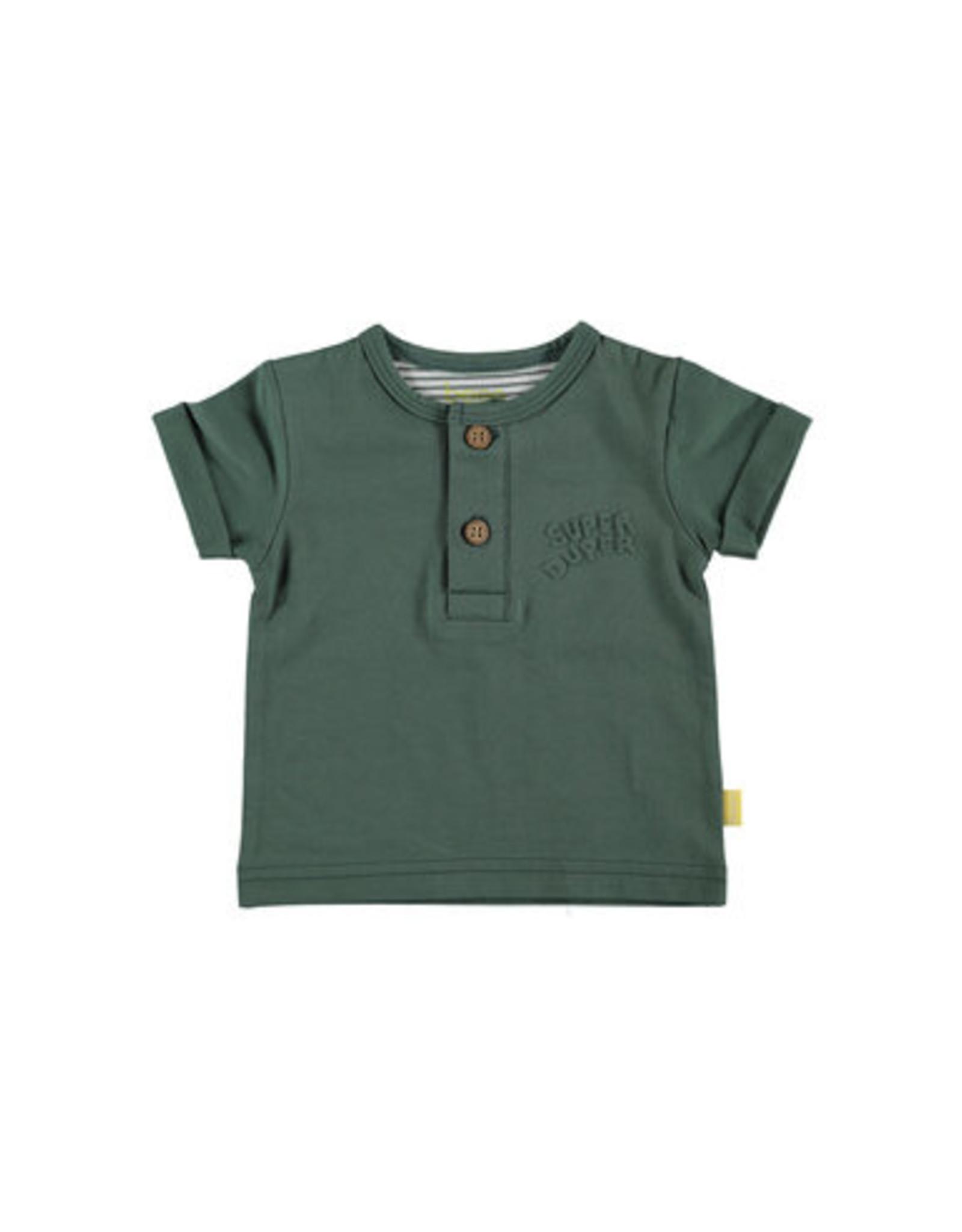 BESS Bess Green Shirt Sh.sl Henley