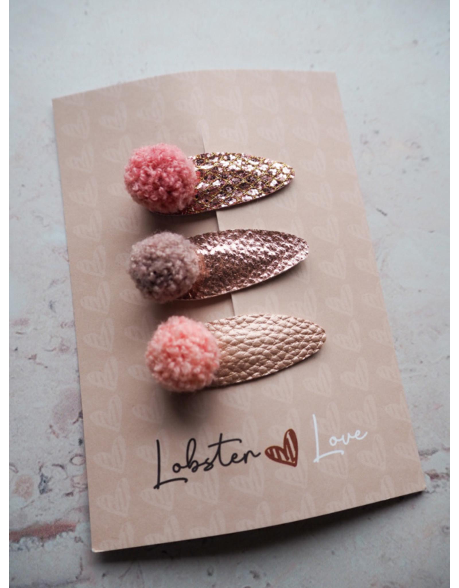 Lobster Love Lobster Love Haarspeldjes 5cm Glossy 3 stuks
