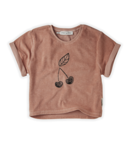 Sproet & Sprout Sproet & Sprout Sweat T-shirt Terry Cherry Rose