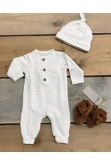 BESS Bess Suit Lines Henley White