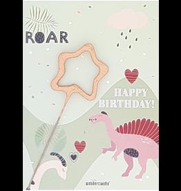 Wondercandle Wondercandle Mini Wondercard Roar Dino Happy Birthday