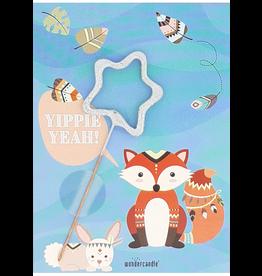 Wondercandle Wondercandle Mini Wondercard Fox Yippie Yeah