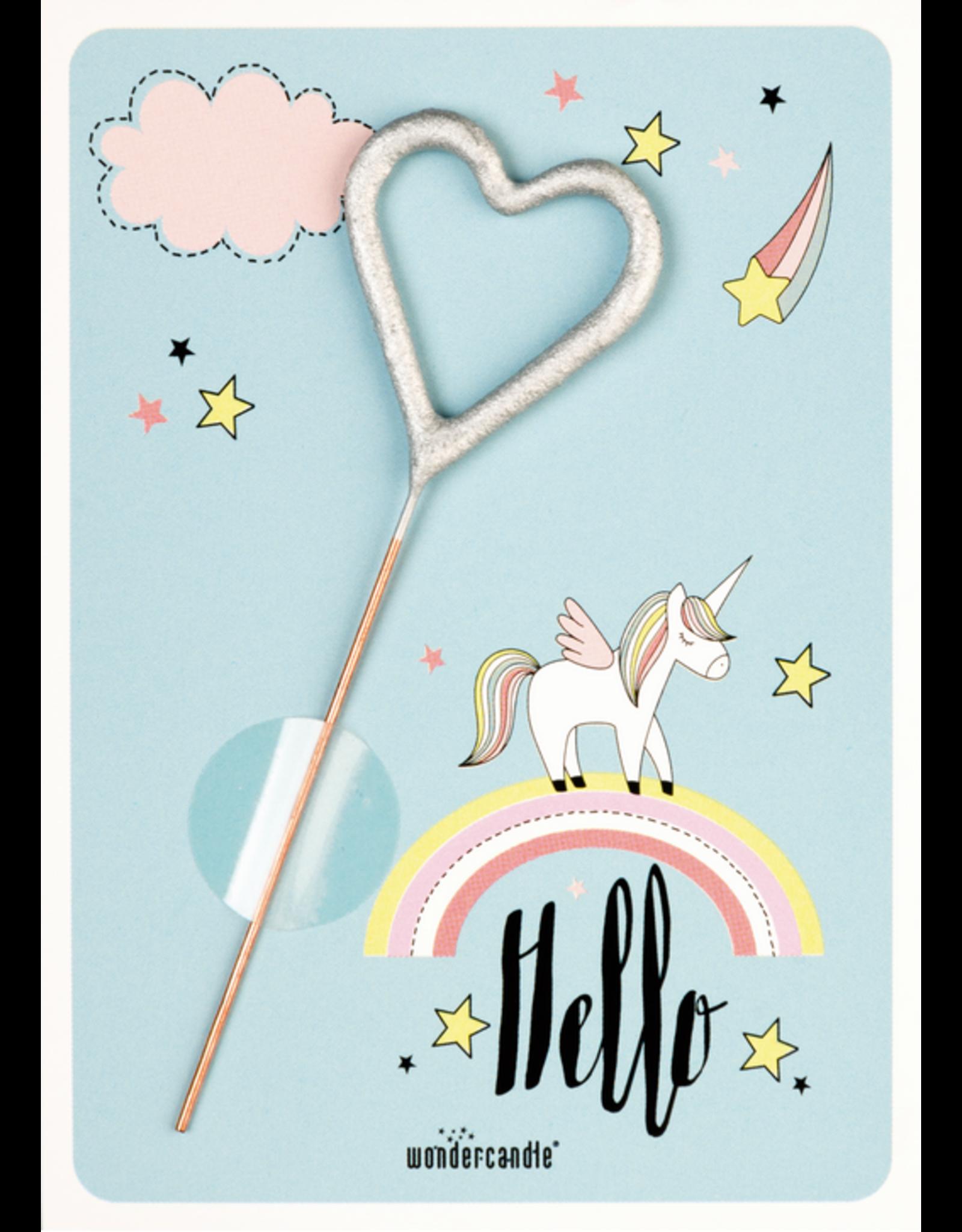 Wondercandle Wondercandle Mini Wondercard Hello unicorn